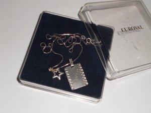 Silber Hals Kette mit Stern und Namen Gravur 935 Silber ( Petra )