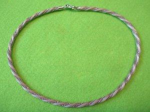 Silber#Halskette#ausgefallen#gedreht