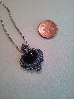 Chaîne en argent noir-argenté