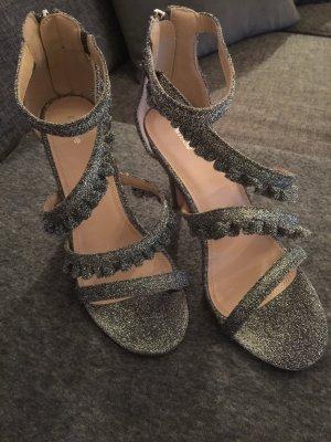 Silber High Heels,10cm Absatz