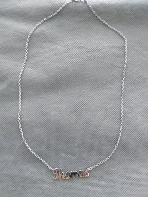 Name Necklace silver-colored real silver