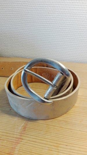 Silber, Ledergürtel, 100 cm