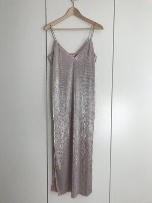 Silber metallic glänzendes Trägerkleid