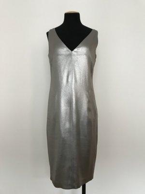 silber-metallic schimmerndes Cocktailkleid