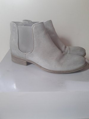 Silber metallicfarbene Chelsea Boots