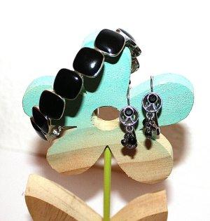 Silber Modeschmuck Set Armband + Ohrringe