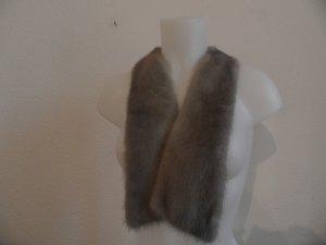 Silber Nerz Kragen für Pulli ,Jacke , Mantel Luxus Pur!