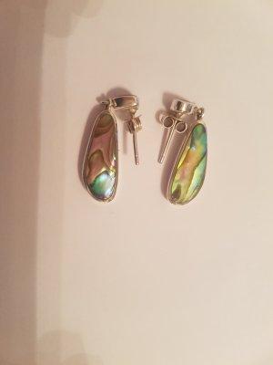 Silber Ohrringe mit Perlmut