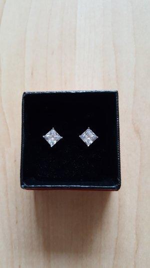 Silber Ohrringe mit Zirkonia