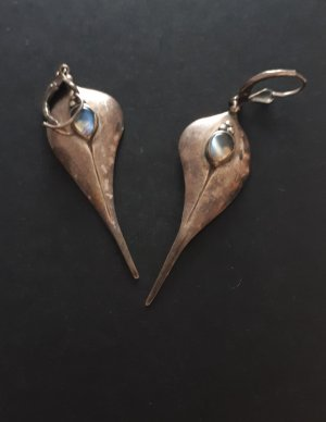 Silber Opal Ohrringe
