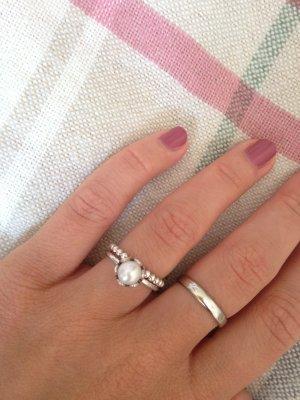 Silber Perlenring von Pandora Gr 52