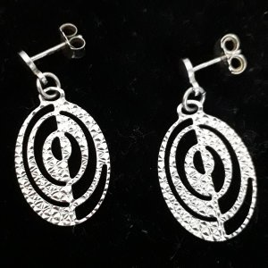 Silver Earrings white-silver-colored