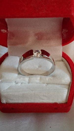 Silber Ring 925 mit Zirkonia Stein Gr.19