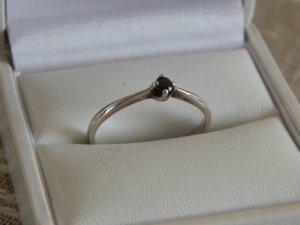 Zilveren ring zwart-zilver