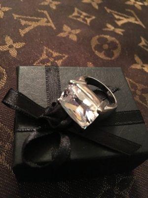 Silber Ring Edel Pracht Stein Glitzer Kristall 17/52