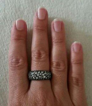 Silber Ring Glitzersteine Neu