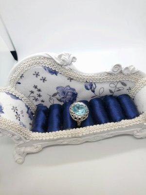 Silber Ring mit Blauen Stein
