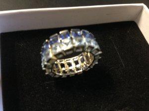 Silber-Ring mit blauen Zirkonia