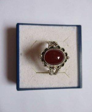 Silber Ring mit Carneol Stein