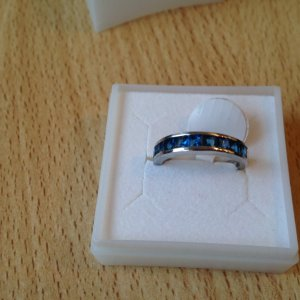 s.Oliver Ring blauw-zilver