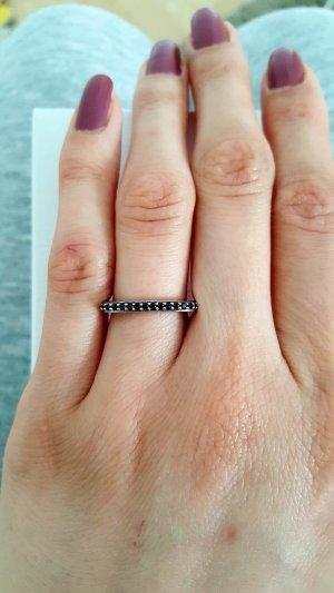 Silber Ring mit Schwarz Zirkonia
