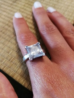 Silber Ring mit Stein