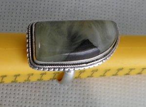 Silber Ring Sterling Silber 925 Edelstein  Aventurin handgemacht