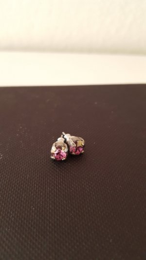 Silber-rosé farbene Ohrstecker