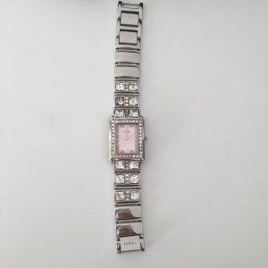 Silber / rose Fossil Uhr