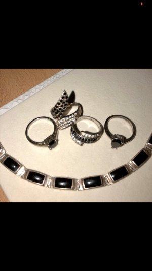 Hanger zilver-zwart