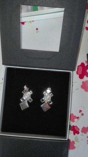 Silber-Schmuck-Set mit Swarovski Kristallen, Pos-Jewellery