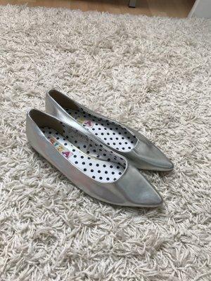 Silber Schuhe, Größe 38