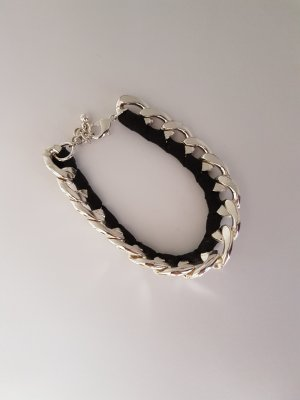 silber, schwarz Armband