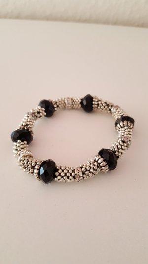 Silber-schwarzes Armband