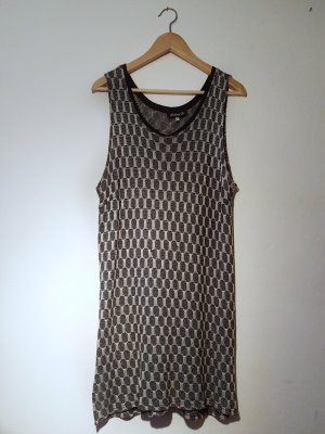 silber-schwarzes Kleid (Vintage)