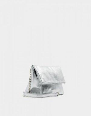 Silber Umhängetasche Pull & Bear