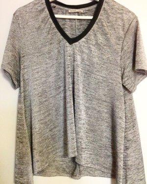 Silber V- Shirt ZARA