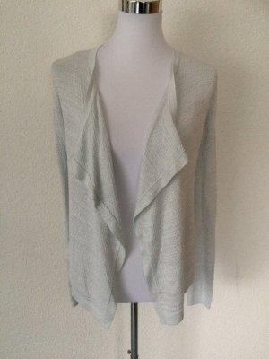 silber / weißes Jäckchen / Cardigan / Strickjacke mit Glitzer von Orsay - Gr. XS