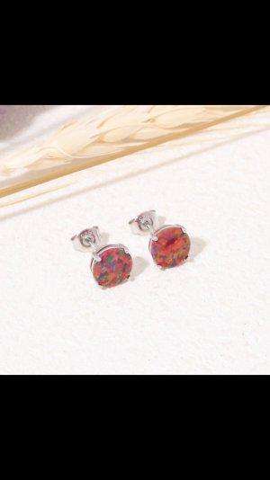 Silber925 feuer opal ohrstecker neu