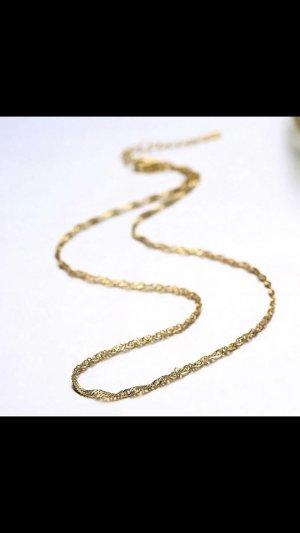 Silber925 halskette gold 40cm +4 cm verstellbar neu