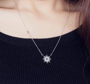 Collier Necklace silver-colored-dark blue