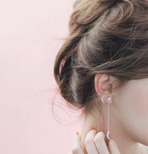 Pendientes de plata color rosa dorado