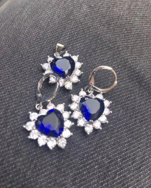 Collier blu-argento