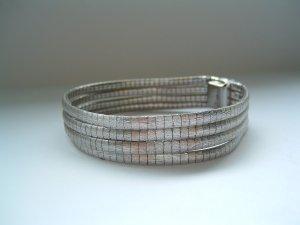 Silberarmband 800er Silber aus vier Schlingen- Vintage 60er/70er