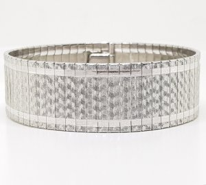 Silberarmband 835 silber breit edel Luxus vintage Armband Gliederarmband