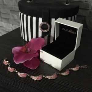 Silberarmband mit rosanen Swarovski Steinen