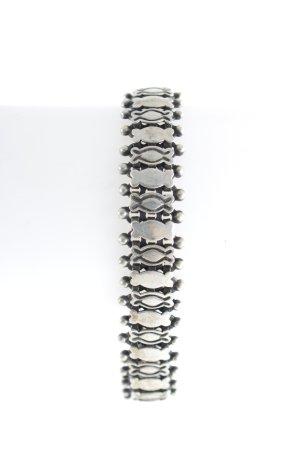 Zilveren armband zilver-zwart Biker-look