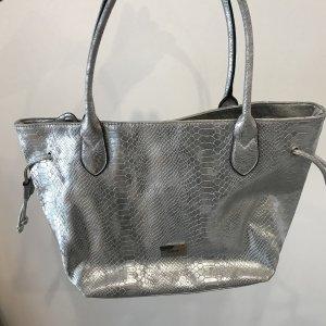 Silberfarbene Henkeltasche von Gabor