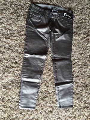 silberfarbene Jeans - GANG