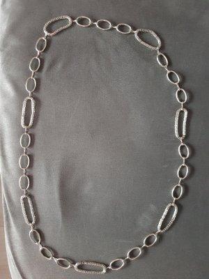 Silberfarbene Modeschmuckkette, NEU